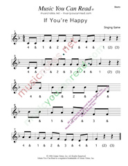 "Click to enlarge: ""If You're Happy"" Beats Format"