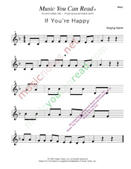 """If You're Happy"" Music Format"