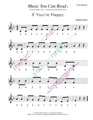 "Click to Enlarge: ""If You're Happy"" Pitch Number Format"