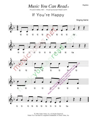 "Click to ""If You're Happy"" Rhythm Format"