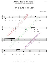 "Click to enlarge: ""I'm a Little Teapot"" Beats Format"