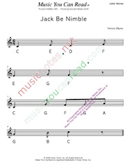 "Click to Enlarge: ""Jack Be Nimble"" Letter Names Format"