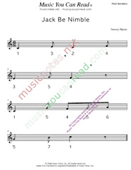 "Click to Enlarge: ""Jack Be Nimble"" Pitch Number Format"