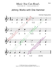 "Click to enlarge: ""Johnny Works with One Hammer"" Beats Format"