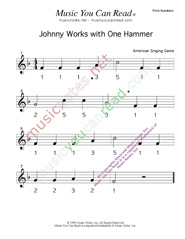"Click to Enlarge: ""Johnny Works with One Hammer"" Pitch Number Format"