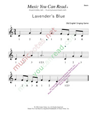 "Click to enlarge: ""Lavender's Blue"" Beats Format"