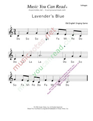 "Click to Enlarge: ""Lavender's Blue"" Solfeggio Format"