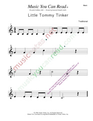 """Little Tommy Tinker"" Music Format"" Music Format"