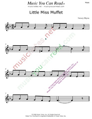 """Little Miss Muffet"" Music Format"" Music Format"