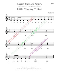 "Click to enlarge: ""Little Tommy Tinker"" Beats Format"