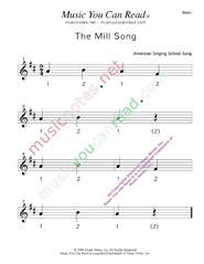 "Click to enlarge: ""The Mill Song"" Beats Format"