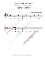 "Click to enlarge: ""Mother, Mother"" Beats Format"