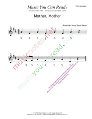 "Click to Enlarge: ""Mother, Mother"" Pitch Number Format"