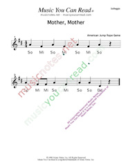"Click to Enlarge: ""Mother, Mother"" Solfeggio Format"