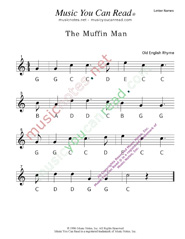 "Click to Enlarge: ""The Muffin Man"" Letter Names Format"