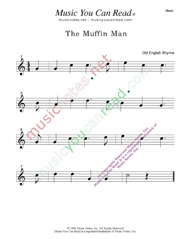 """The Muffin Man"" Music Format"