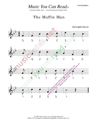 "Click to Enlarge: ""The Muffin Man"" Pitch Number Format"