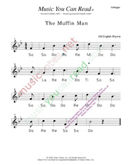 "Click to Enlarge: ""The Muffin Man"" Solfeggio Format"