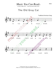 "Click to enlarge: ""The Old Gray Cat"" Beats Format"