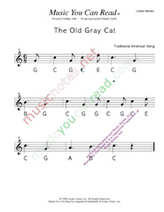 "Click to Enlarge: ""The Old Gray Cat"" Letter Names Format"