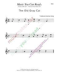 """The Old Gray Cat"" Music Format"