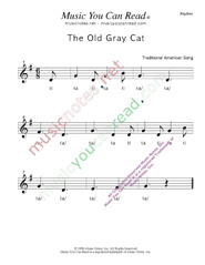 "Click to Enlarge: ""The Old Gray Cat"" Rhythm Format"