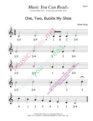 printable coloring one two buckle my shoe traditional lyrics music notes inc