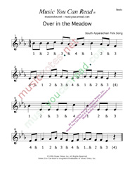 """Over in the Meadow"" Beats Format"