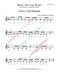 """Over in the Meadow"" Letter Names Format"
