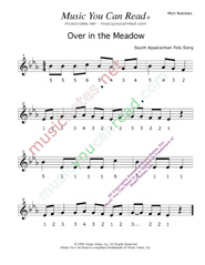"""Over in the Meadow"" Pitch Numbers Format"