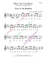 """Over in the Meadow"" Rhythm Format"
