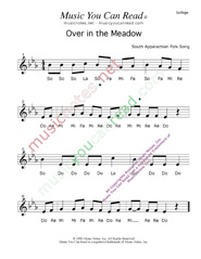 """Over in the Meadow"" Solfeggio Format"