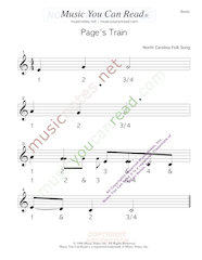 "Click to enlarge: ""Page's Train"" Beats Format"
