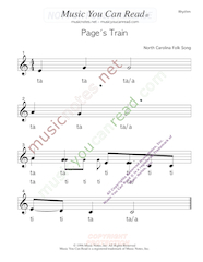 "Click to Enlarge: ""Page's Train"" Rhythm Format"