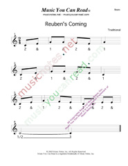 "Click to enlarge: ""Reuben's Coming"" Beats Format"