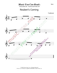 """Reuben's Coming"" Music Format"