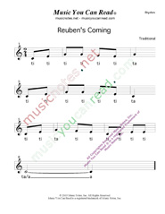 "Click to Enlarge: ""Reuben's Coming"" Rhythm Format"