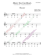 "Click to Enlarge: ""Rover"" Letter Names Format"