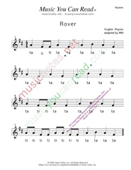 "Click to Enlarge: ""Rover"" Rhythm Format"