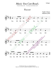 "Click to Enlarge: ""Rover"" Solfeggio Format"