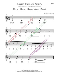 "Click to enlarge: ""Row, Row, Row Your Boat"" Beats Format"