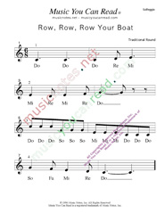 "Click to Enlarge: ""Row, Row, Row Your Boat"" Solfeggio Format"