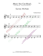 """Sandy Mc Nab"" Music Format"