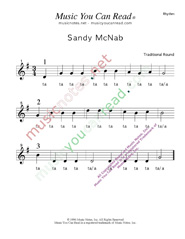 "Click to Enlarge: ""Sandy Mc Nab"" Rhythm Format"