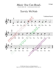 "Click to Enlarge: ""Sandy Mc Nab"" Solfeggio Format"