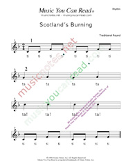 "Click to Enlarge: ""Scotland's Burning"" Rhythm Format"