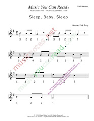 "Click to Enlarge: ""Sleep, Baby, Sleep"" Pitch Number Format"
