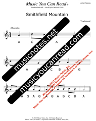 "Click to Enlarge: ""Smithfield Mountain"" Letter Names Format"