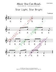"Click to Enlarge: ""Star Light Star Bright"" Letter Names Format"