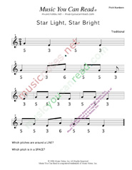 "Click to Enlarge: ""Star Light Star Bright"" Pitch Number Format"